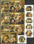 Чад 2014 год. Живопись нидерландского художника Питера Пауля Рубенса, 3 малых листа + 7 блоков