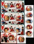 Чад 2014 год. Знаменитые хоккеисты, 3 малых листа + 7 блоков