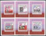 Гвинея 2009 год. Астронавты на марках, 6 люксблоков