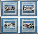 Того 2010 год. Ездовые собаки. Сибирская Хаски, 4 люксблока