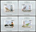Коморы 2009 год. Птицы, порты и маяки, 4 люксблока