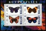 Малави 2013 год. Бабочки, малый лист