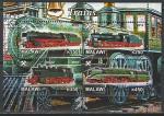 Малави 2012 год. Паровозы и локомотивы, малый лист