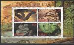 Малави 2010 год. Рептилии, малый лист
