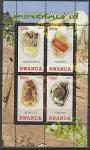 Руанда 2010 год. Минералы III, малый лист