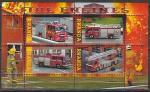 Руанда 2010 год. Пожарные машины, малый лист