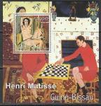 Гвинея-Бисау 2001 год. Картины французского художника Анри Матисса, блок
