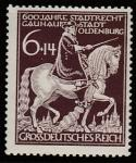 Германия (Рейх) 1945 год. 600 лет городу Ольденбург, 1 марка