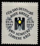 Чехословакия 1941 год. Непочтовая марка. Немецкий Красный Крест, 1 марка