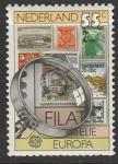 Нидерланды 1979 год. Европа: история почтовой и телефонной связи. Почтовая марка, лупа, 1 марка