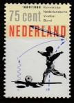Нидерланды 1989 год. 100 лет Королевскому голландскому футбольному союзу, 1 марка
