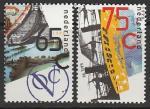 Нидерланды 1990 год. Судоходство. Корабли и паруса, 2 марки