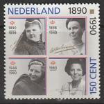 Нидерланды 1990 год. 100 лет Королевскому Дому Оранских, 1 марка