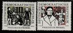 ГДР 1957 год. 175 лет со дня рождения немецкого педагога Фридриха Фрёбеля, 2 марки.
