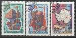 СССР 1981 год. Советские исследования в Антарктике, 3 марки (гашёные)