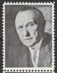 Непочтовая марка. Первый канцлер ФРГ Конрад Аденауэр, 1 марка