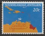 Нидерландские Антильские острова 1964 год. V заседание Совета стран Карибского бассейна в Кюрасао, 1 марка
