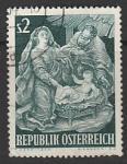 Австрия 1963 год. Рождество, 1 марка (гашёная)