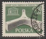 Польша 1958 год. Открытие нового представительства ЮНЕСКО в Париже, 1 марка (гашёная)