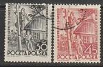 Польша 1951 год. Шестилетний план. Электрификация, 2 марки (гашёные)