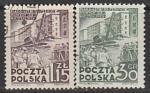 Польша 1951 год. Шестилетний план. Жилищное строительство, 2 марки (гашёные)