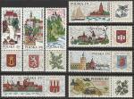 Польша 1969 год. Туризм. Города. Национальные парки, 8 марок (гашёные)