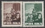 Польша 1955 год. XIII Международные горные мотогонки в Татрах, 2 марки (наклейка)