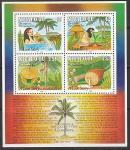 Ниуафооу (Тонга) 1991 год. Рождество. Сказка о кокосовой пальме, блок