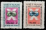 Вьетнам 1982 год. X Международный конгресс профсоюзов в Гаване, 2 марки (гашёные)