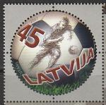 Латвия 2007 год. 100 лет футболу Латвии, 1 марка