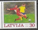 Латвия 2004 год. XXII Чемпионат Европы по футболу в Португалии, 1 марка.  (нар)
