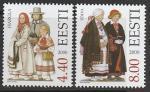 Эстония 2000 год. Национальные костюмы, 2 марки