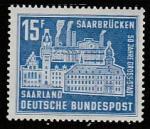 ФРГ (СААР) 1959 год. Город Саарбрюккен, 1 марка (наклейка)