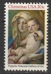 США 1982 год. Рождество, 1 марка