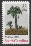 США 1988 год. Южная Каролина, 1 марка