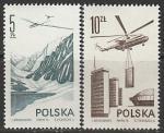Польша 1976 год. Современная авиация, 2 марки