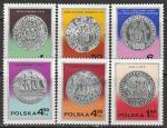 Польша 1977 год. День почтовой марки. Польские монеты, 6 марок