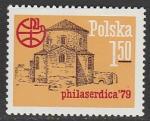 """Польша 1979 год. Международная филвыставка """"Филасердика-79"""" в Софии, 1 марка"""