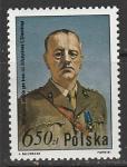 Польша 1981 год. Польский политик, генерал Владислав Сикорский, 1 марка