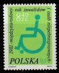 Польша 1981 год. Международный год инвалидов, 1 марка