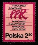Польша 1982 год. 40 лет Польской Рабочей Партии, 1 марка