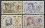 Польша 1981 год. 200 лет театру Кракова, 4 марки