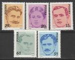 Польша 1982 год. Деятели польского рабочего движения, 5 марок