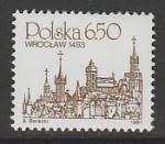Польша 1981 год. Городской пейзаж Бреслау, 1 марка