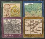 Польша 1982 год. Исторические карты, 4 марки