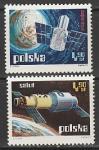 Польша 1973 год. Исследование космоса, 2 марки