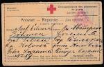 ПК Красного Креста. Корреспонденция военнопленных, 1917 год, прошла почту