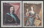 Монако 1969 год. Картины княжеского дворца, 2 марки
