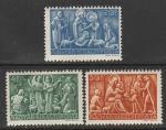 Венгрия 1943 год. Рождество, 3 марки (наклейка)