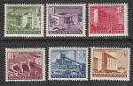 Венгрия 1952 год. Строительство в Венгрии, 6 марок (наклейка)
